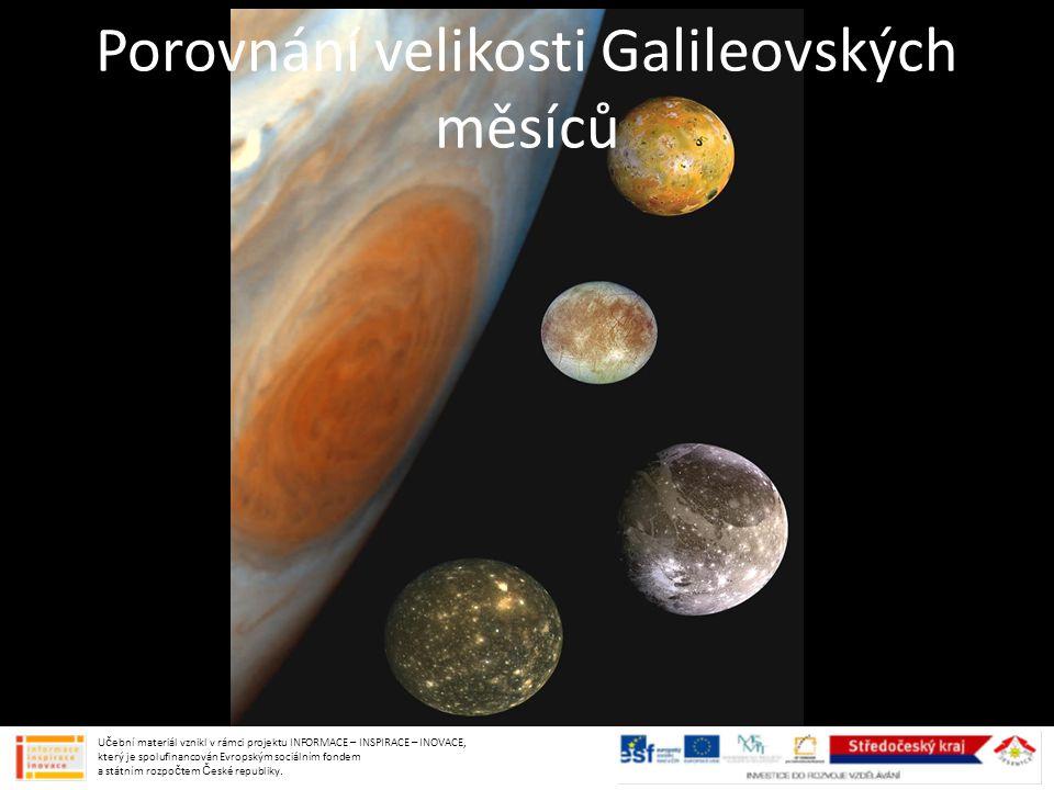 Porovnání velikosti Galileovských měsíců