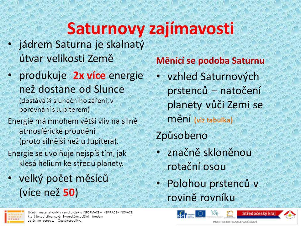 Saturnovy zajímavosti