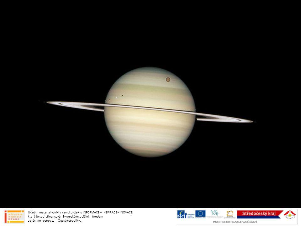 SATURNOVY PRSTENCE poprvé pozoroval Galileo (neúspěch)