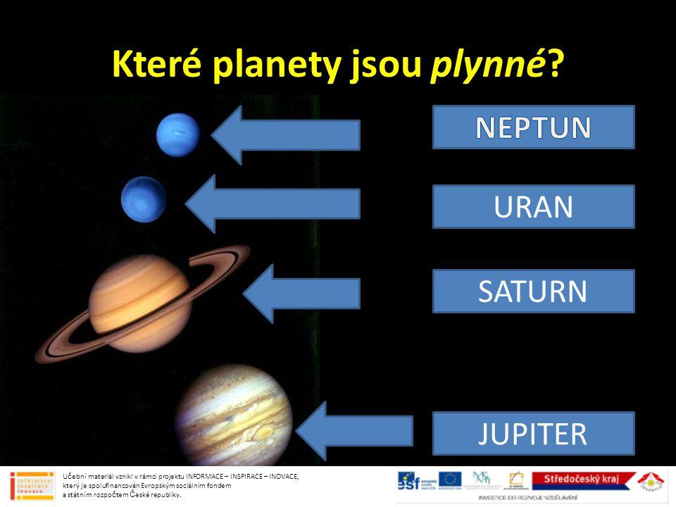 Které planety jsou plynné