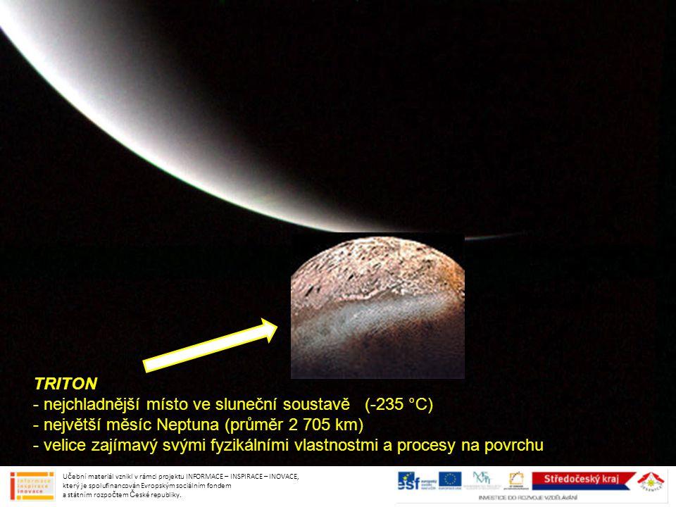 nejchladnější místo ve sluneční soustavě (-235 °C)