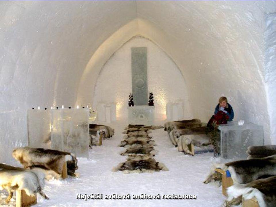 Největší světová sněhová restaurace