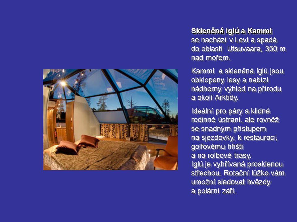 Skleněná iglú a Kammi se nachází v Levi a spadá do oblasti Utsuvaara, 350 m nad mořem.