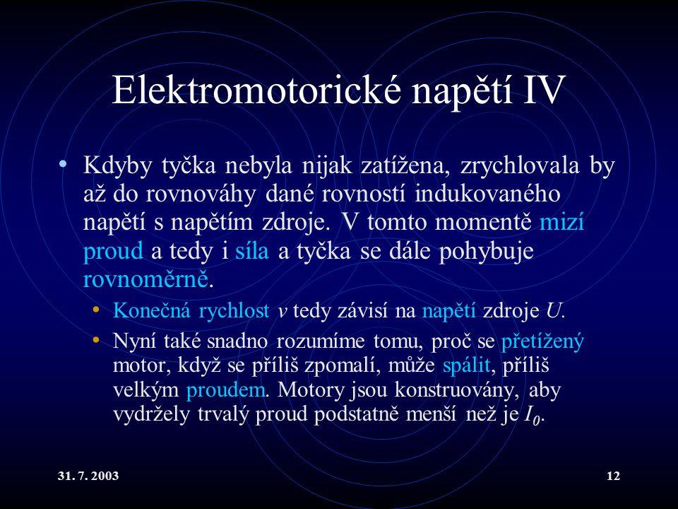 Elektromotorické napětí IV