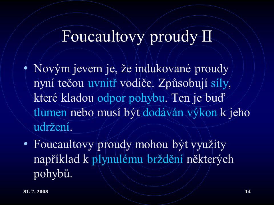 Foucaultovy proudy II