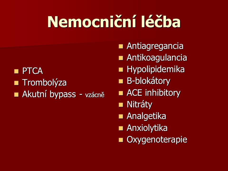 Nemocniční léčba Antiagregancia Antikoagulancia Hypolipidemika