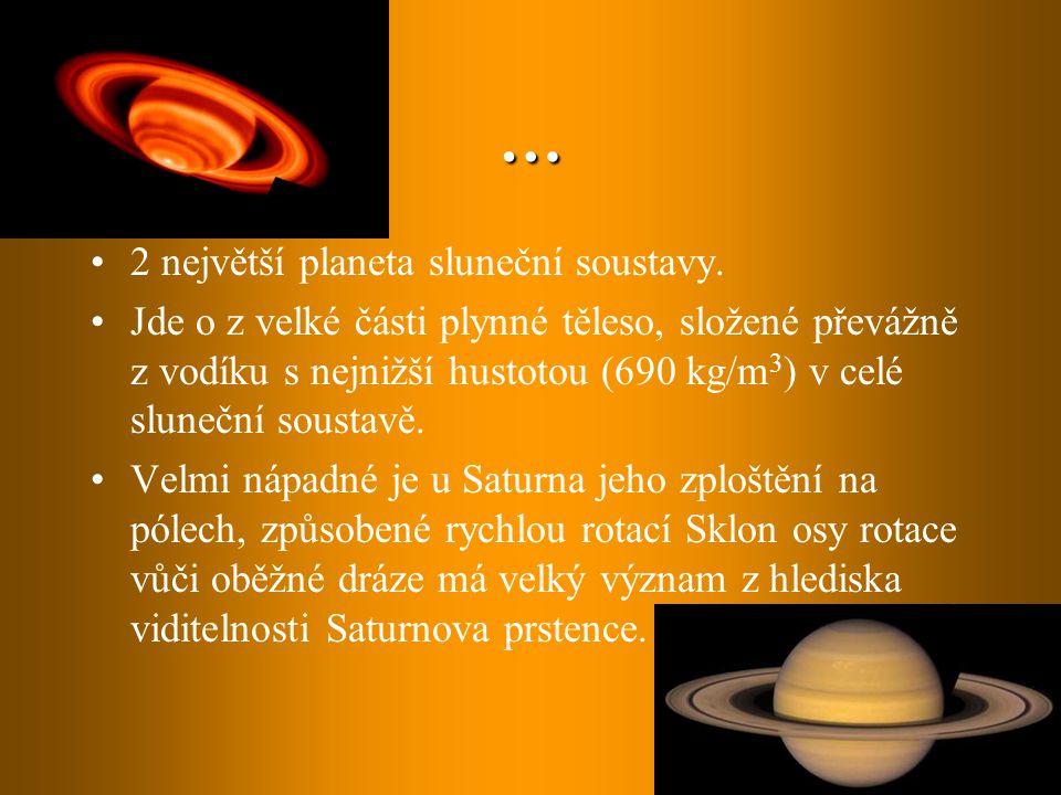 … 2 největší planeta sluneční soustavy.