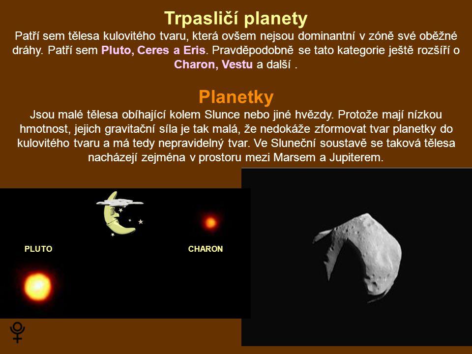 Trpasličí planety Planetky