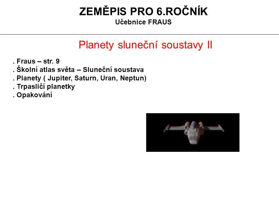 Planety sluneční soustavy II