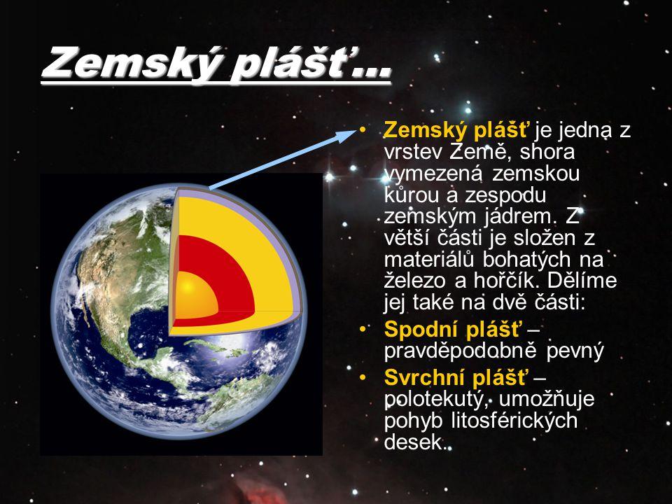 Zemský plášť…