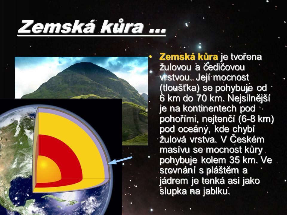 Zemská kůra …