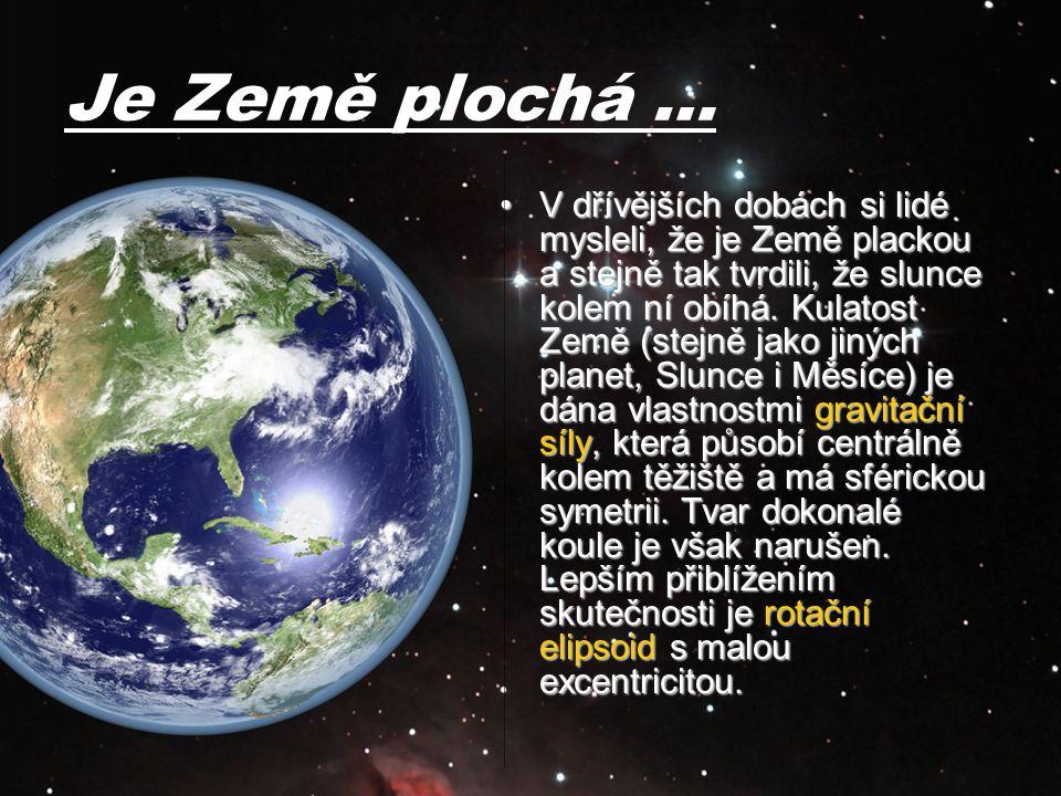 Je Země plochá …
