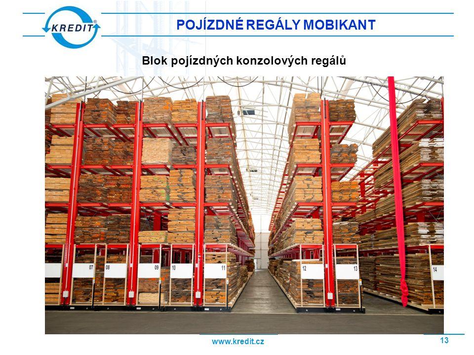 POJÍZDNÉ REGÁLY MOBIKANT Blok pojízdných konzolových regálů