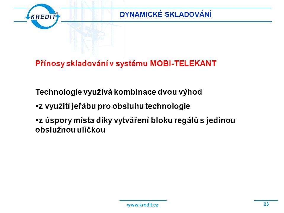 Přínosy skladování v systému MOBI-TELEKANT