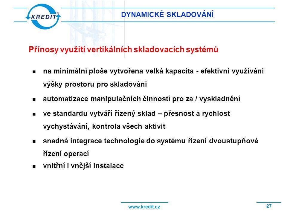 Přínosy využití vertikálních skladovacích systémů