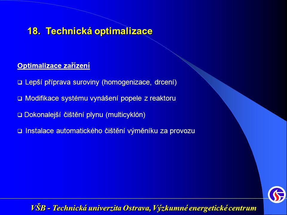 18. Technická optimalizace
