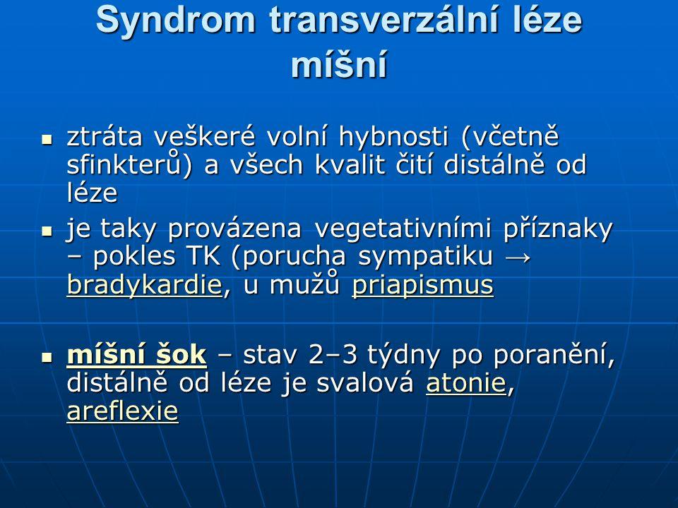 Syndrom transverzální léze míšní