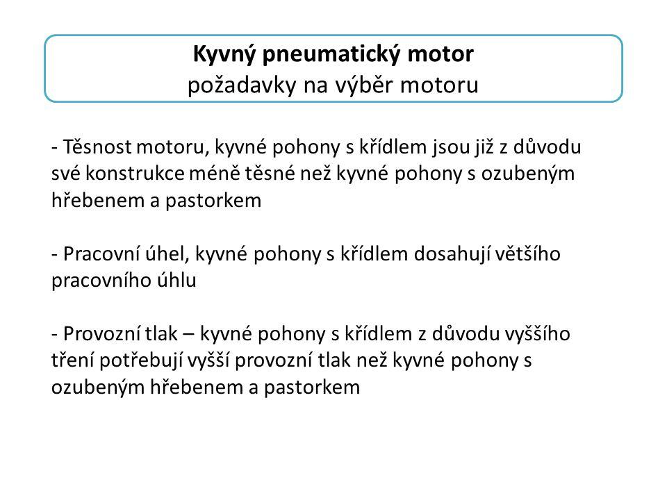Kyvný pneumatický motor
