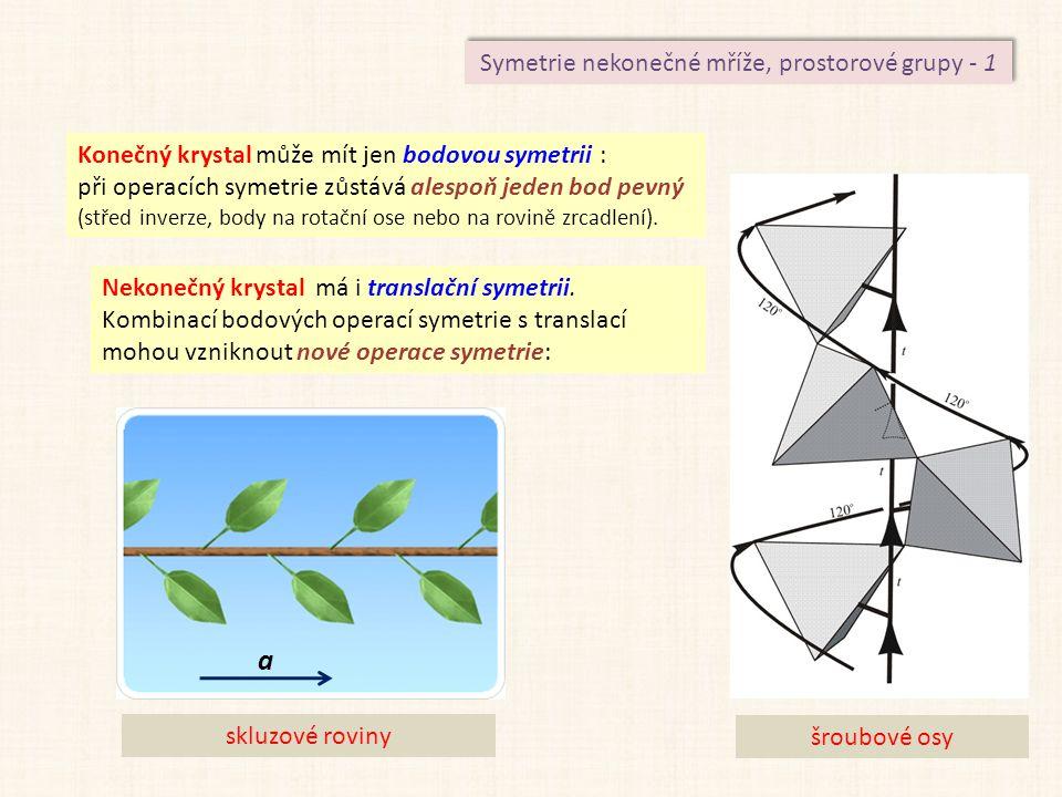 Symetrie nekonečné mříže, prostorové grupy - 1