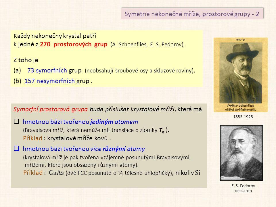 Symetrie nekonečné mříže, prostorové grupy - 2
