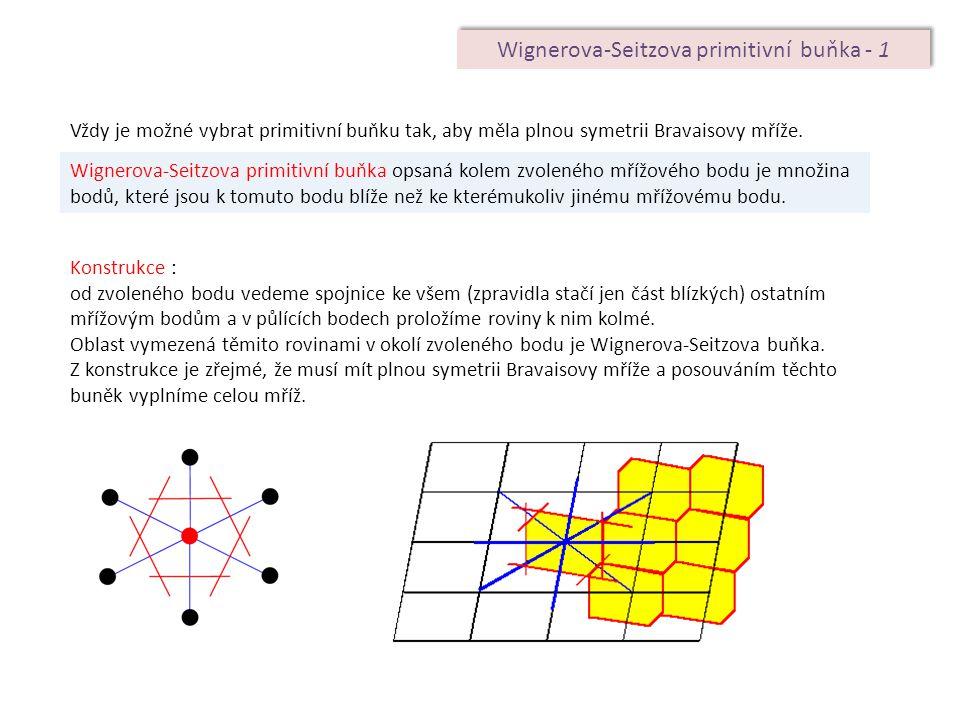 Wignerova-Seitzova primitivní buňka - 1