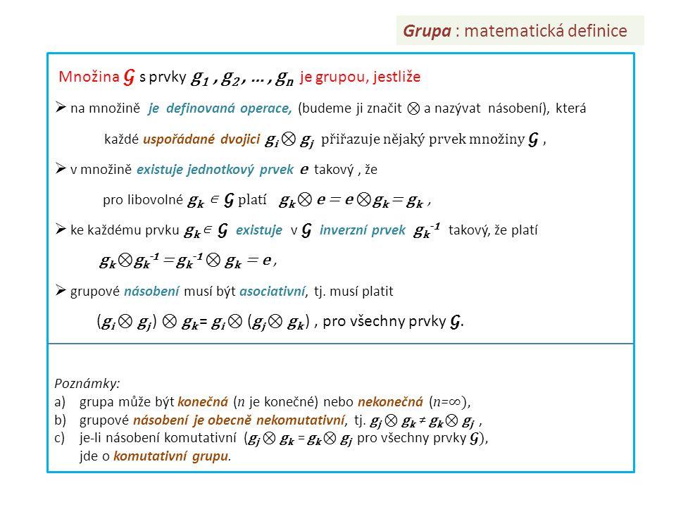 Grupa : matematická definice
