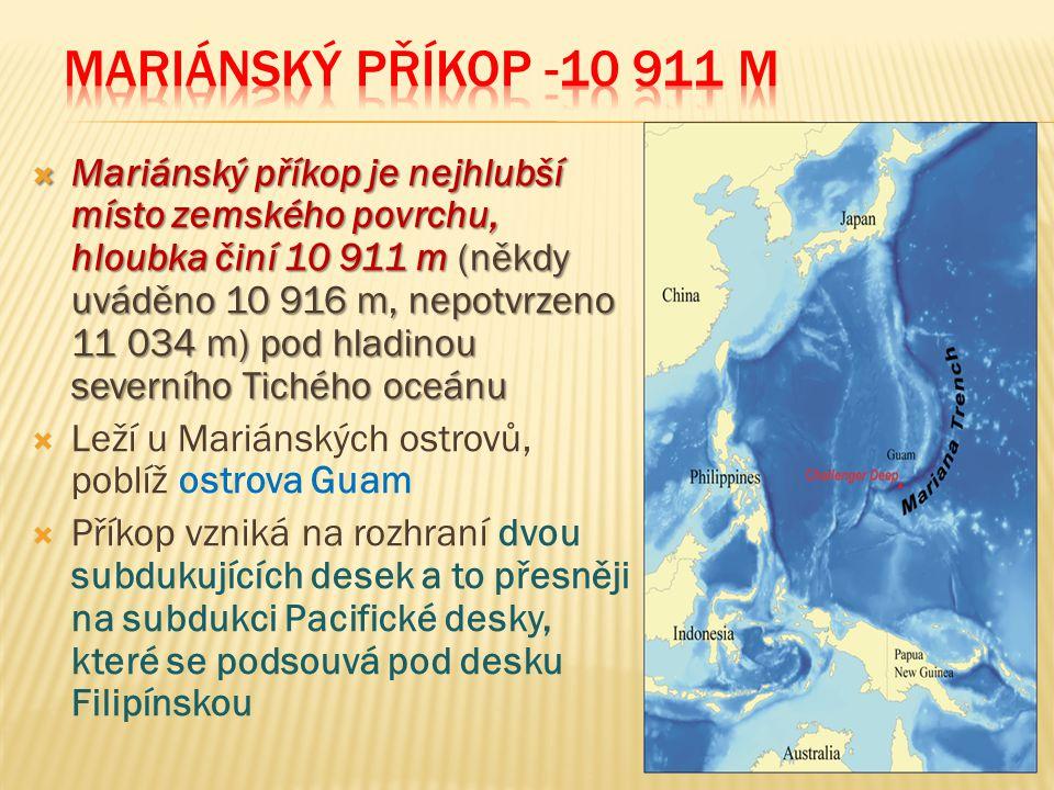 Mariánský příkop -10 911 m