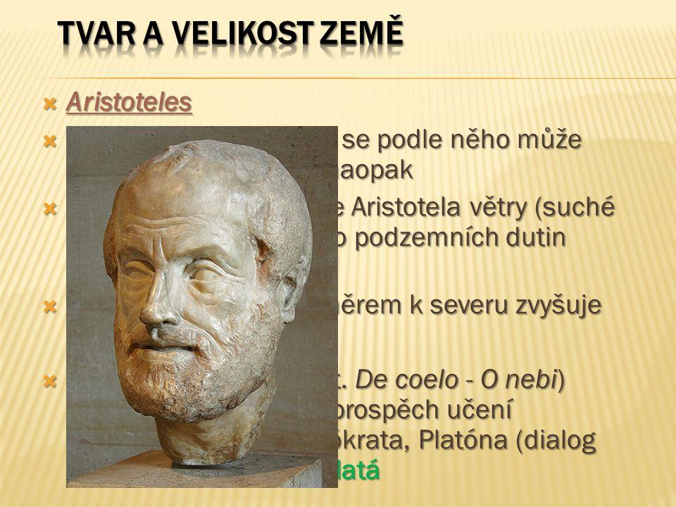 Tvar a velikost Země Aristoteles