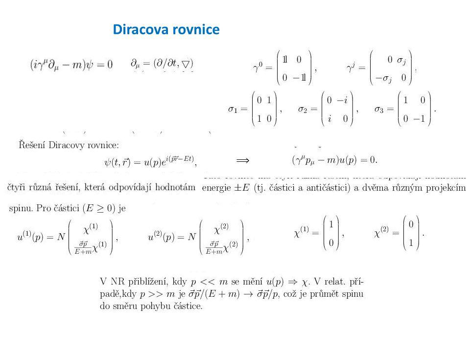Diracova rovnice ⟹