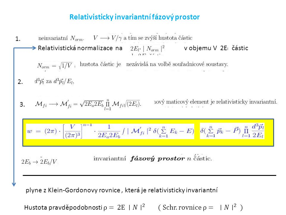Relativisticky invariantní fázový prostor