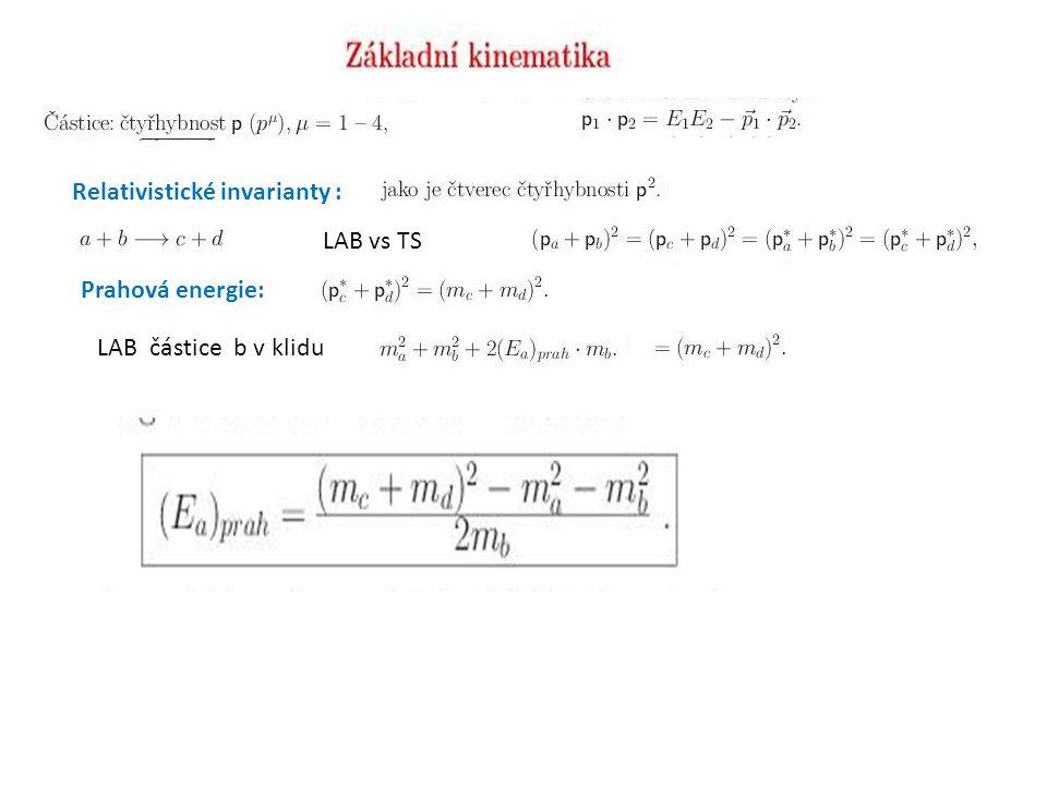 Relativistické invarianty :