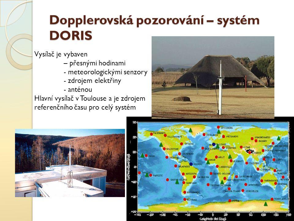 Dopplerovská pozorování – systém DORIS