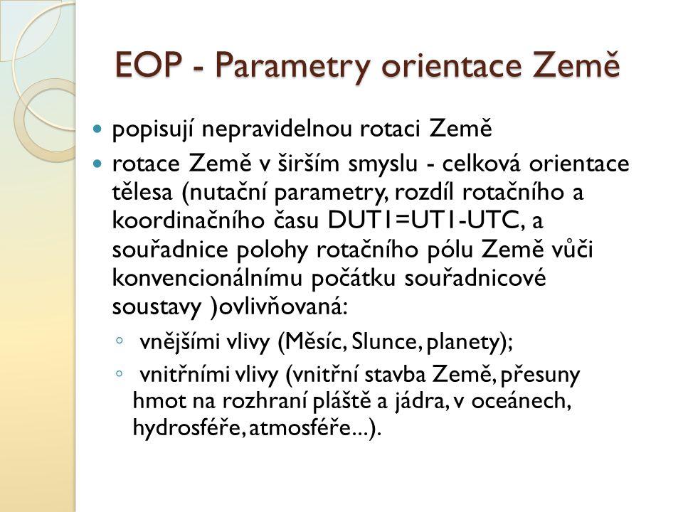 EOP - Parametry orientace Země