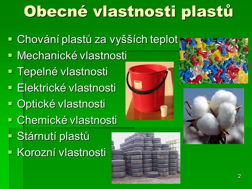 Obecné vlastnosti plastů