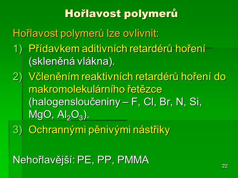 Hořlavost polymerů lze ovlivnit: