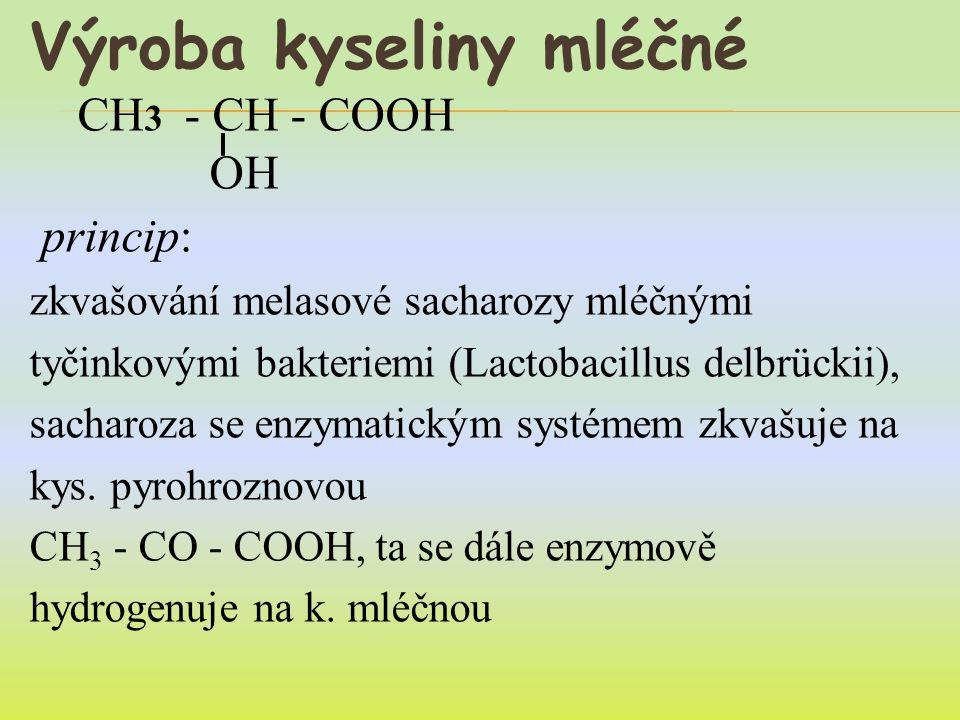 Výroba kyseliny mléčné