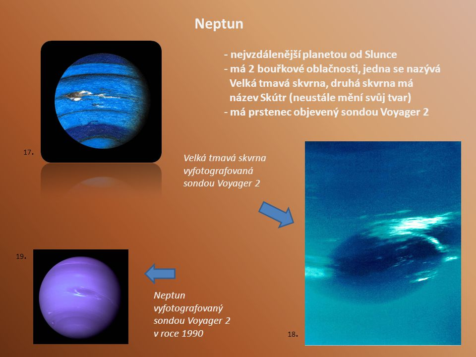 Neptun - nejvzdálenější planetou od Slunce