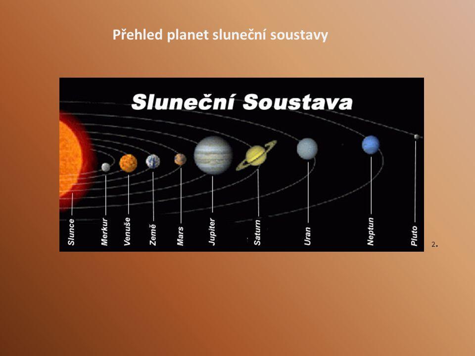 Přehled planet sluneční soustavy