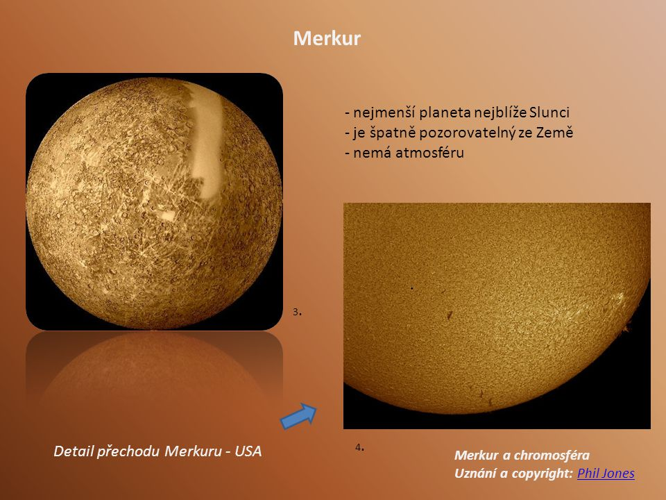 Merkur nejmenší planeta nejblíže Slunci