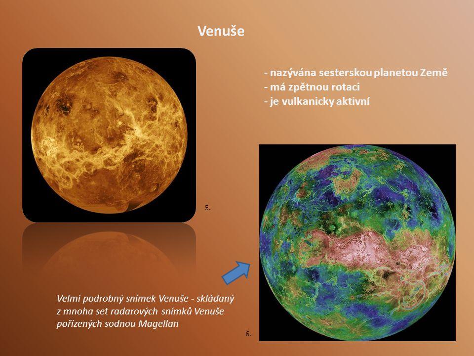 Venuše nazývána sesterskou planetou Země má zpětnou rotaci