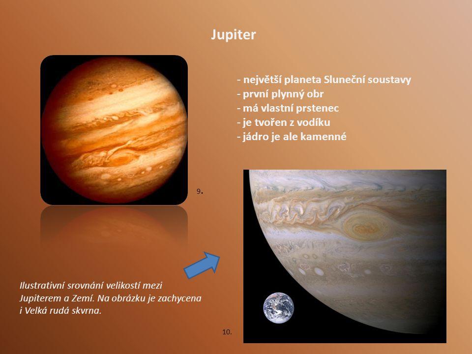 Jupiter - největší planeta Sluneční soustavy první plynný obr
