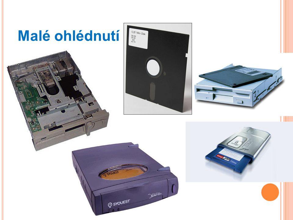 Malé ohlédnutí 5 ¼ disketa, 3 ½ disketa, ZIP drive, Syquest