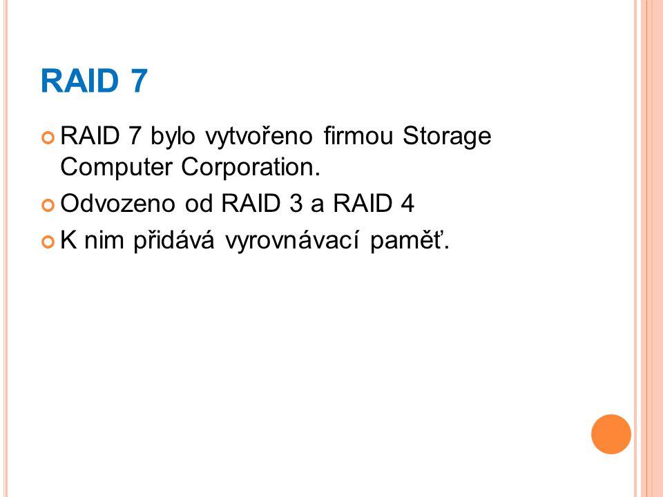 RAID 7 RAID 7 bylo vytvořeno firmou Storage Computer Corporation.