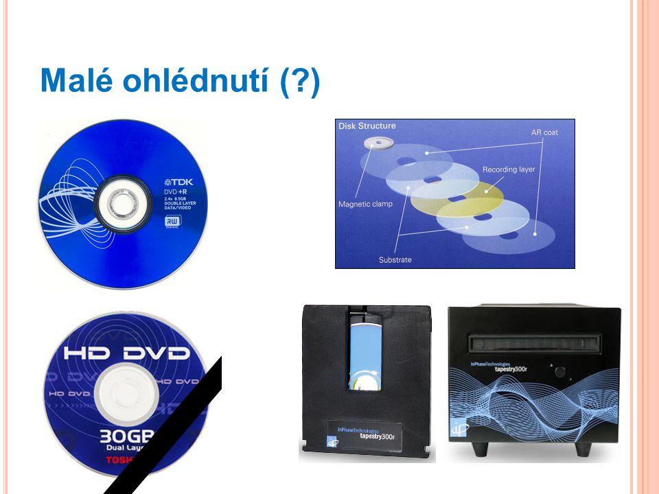 Malé ohlédnutí ( ) DVD, DVD RAM v kazetě, HD DVD neuspělo proti Blue-ray diskům