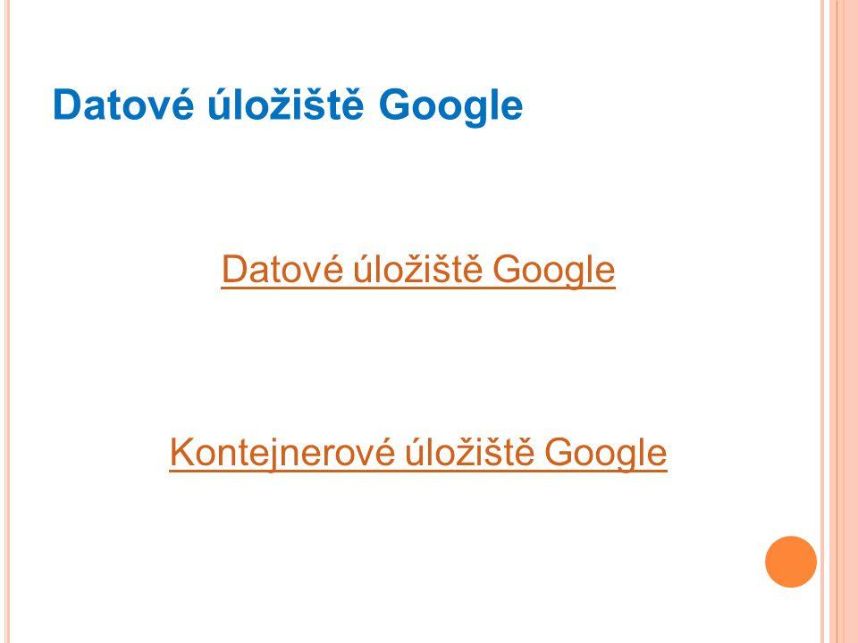 Datové úložiště Google