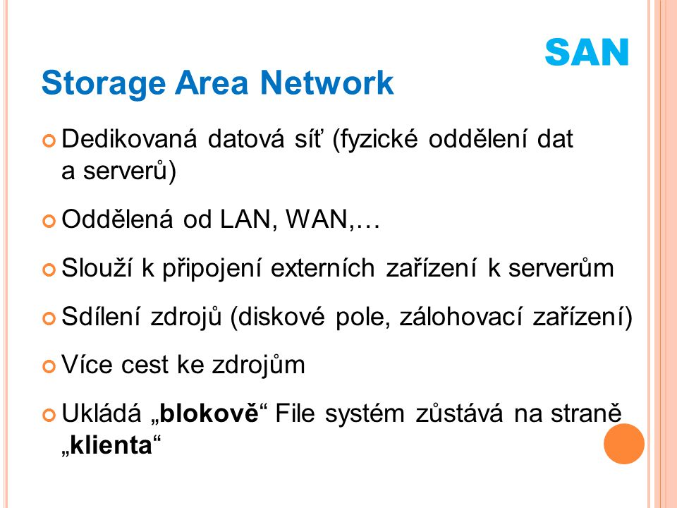 SAN Storage Area Network