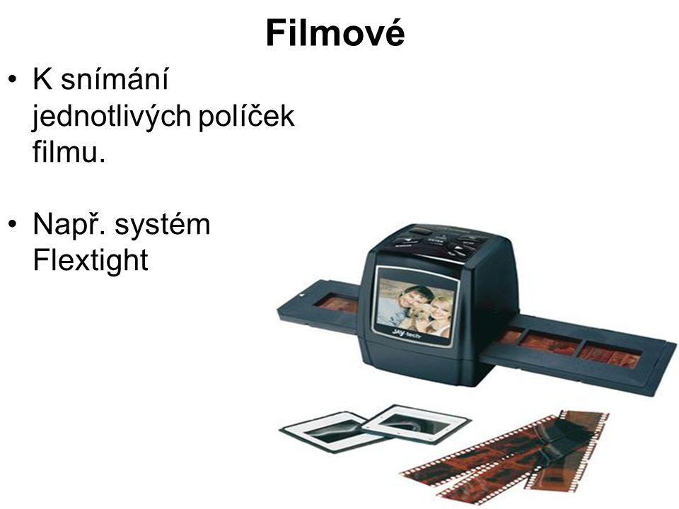 Filmové K snímání jednotlivých políček filmu. Např. systém Flextight
