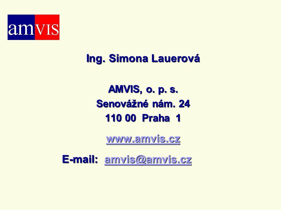 Ing. Simona Lauerová www.amvis.cz