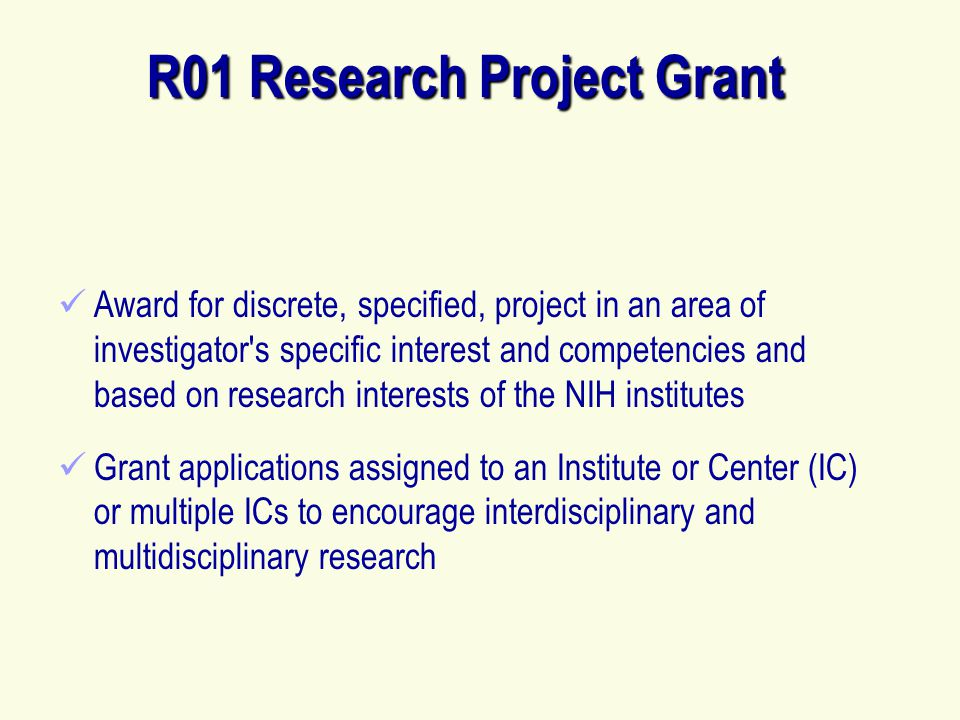 R01 Research Project Grant
