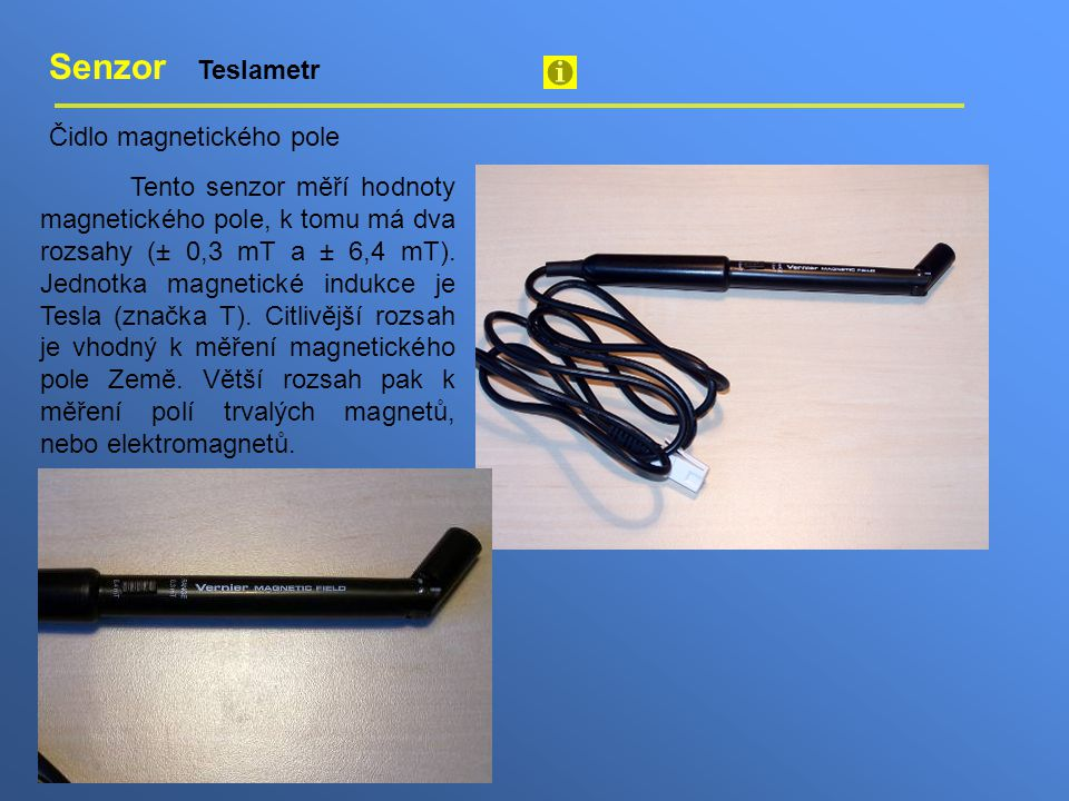 Senzor Teslametr Čidlo magnetického pole